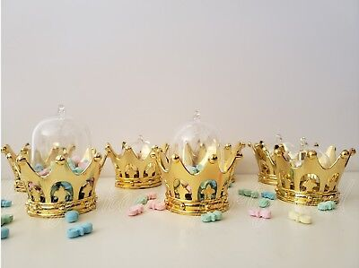 12 Prince, princess Gold crowns Baby Shower Girl or boy Favors Prizes Decoration](Prince Crowns)