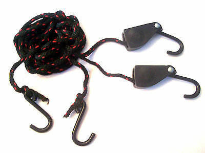 Illinois Industrial 2pc Ratcheting Rope Hoist Pulley Block And Tackle Set 35250