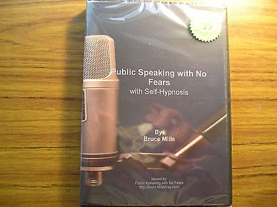 Public Speaking with No Fears - Self Hypnosis CD SRP $39