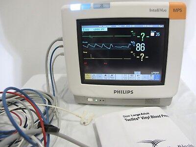 Philips Intellivue Mp5 Ecg Touchscreen Patient Monitor