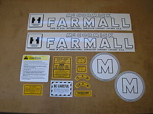 IH / McCORMIC / FARMALL / M  / NEW / DECAL SET / FOR TRACTORS / # 18-15-205