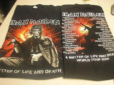 IRON MAIDEN- Gun Life & Death  MENS XLARGE T-SHIRT g