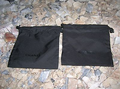CHANEL Black Drawstring Cosmetic Bag 1