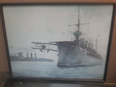 """R G Smith Print """"The Beginning"""" First Aircraft Carrier Flight Naval Aviation for sale  Canada"""
