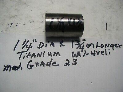 1 14 Titanium Round Rod 1 Pc.1 14 X 1 34 Or Longer Medical Grade 6al-4veli