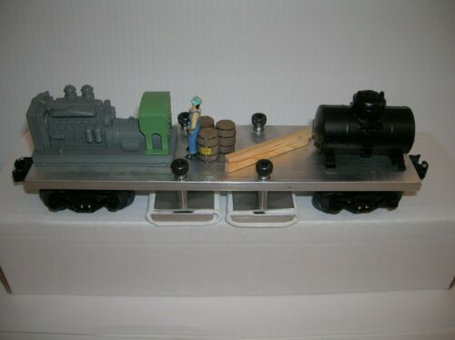 """NORTH EAST TRAINS  """"TRACK CLEANING DELUXE CAR   """" w/ DCS TRUCKS, lot # 12922"""