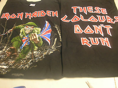 IRON MAIDEN- THESE COLOURS DON'T RUN- small T-SHIRT c