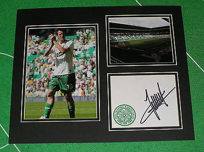 Jan Vennegoor of Hesselink Signed Glasgow Celtic FC Mount