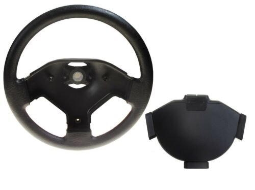 EZGO Golf Cart Steering Wheel Replacement & Cardholder Assembly Fits 1975 and Up