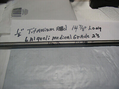 12 Titanium Round Rod 6 Al-4veli 1 Pc.14 78 Long Polished Inplant Grade