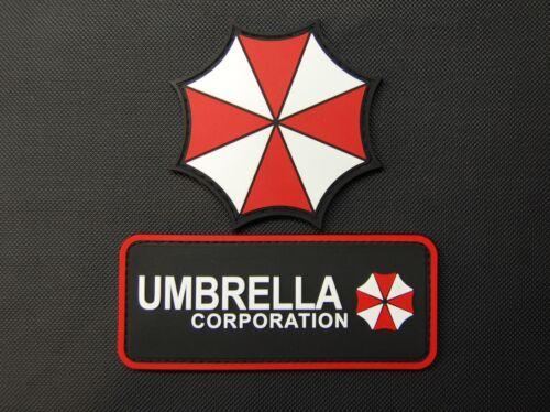 PVC Rubber Uniform Resident Evil Umbrella Corporation 2 Patch Set Hook Backing
