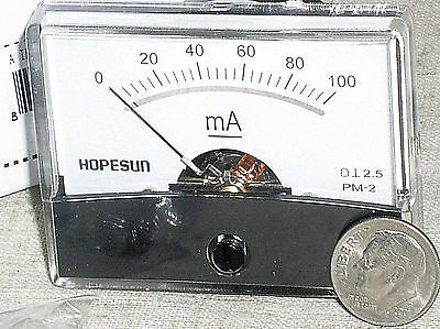 Brand New 100 Ma 100ma Dc Milliamp Current Amp A Ammeter Analog Panel Meter Usa