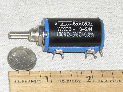 New 100k Ohm Pot Precision 10 Turn 10t 2w Wirewound Wire Wound Potentiometer Usa