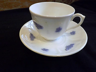 Adderley Fine Bone China England Cup and Saucer Set Blue Chelsea
