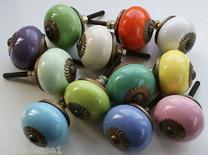 These Please Ceramic China Door Knobs Handles Drawer Pulls