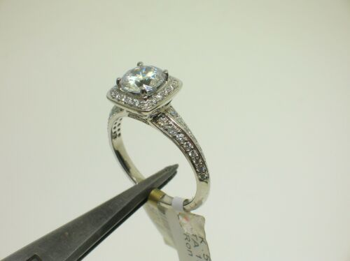 Ritani 18k W/g 1rz3157c Halo Setting 0.53 Ctw Diamonds Size 6.5 Us -retail $5071