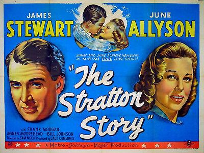 STRATTON STORY 1949 James Stewart June Allyson BASEBALL UK POSTER