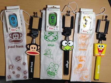 Self Handheld Monopod Cartoon Pattern with Bluetooth Remote Bayswater North Maroondah Area Preview