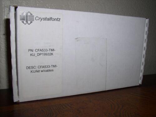 Crystalfontz LCD Display CFA533 TMI KU with Cable Kit (DP19932K)-NEW in Box