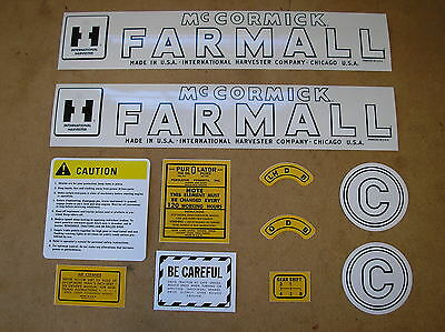 Ih Mccormic Farmall C  New Decal Set For Tractors  18-6-79