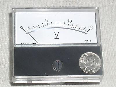 New 15 V Dc 15v Vdc Dc Volt Analog Volts Mirror Scale Panel Meter Rv Voltmeter