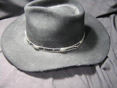 Renegade Black Hat Size 7, 100% Wool Texas, USA Cowboy Style