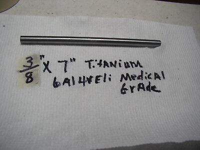 38 Titanium Round Rod Bar 6 Al-4veli Grade 23 1 Pc. 7 Long Medical Grade