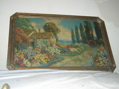 """RARE ANTIQUE """"An Old Fashioned Garden,"""" BY R. Atkinson Fox"""