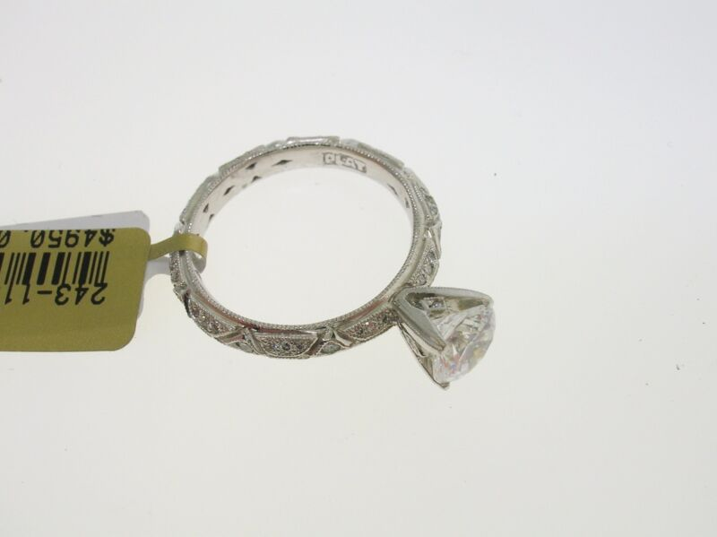 TACORI PLATINUM SEMI-MOUNT 0.36 CTW DIAMONDS - SIZE 6.25 US - RETAIL $4950.00!!