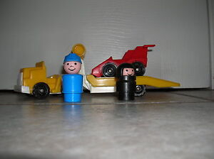 Fisher Price  little people Indy Racer set
