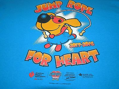 T Shirt Jump Rope For Heart American Assn Dog 2015 2016 Blue S Sm Small