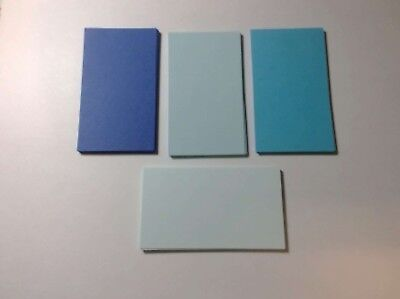 100 Blank Business Cards 4 Shades Blue 3.5 x 2, Multi, flash cards, note cards](Blank Flash Cards)