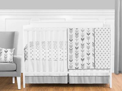 Bumperless Grey and White Woodland Arrow Unisex Baby Girl Bo