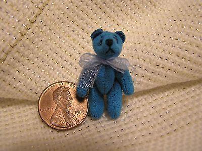 World of Miniature Bears - 1 Inch Bear - Blue