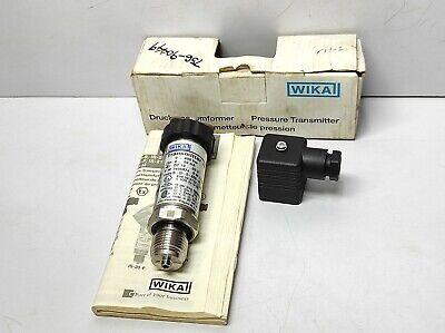 Wika Is-20-s Pressure Transmitter Is-20-s-bbs-gd-azga4zuz1-zzz