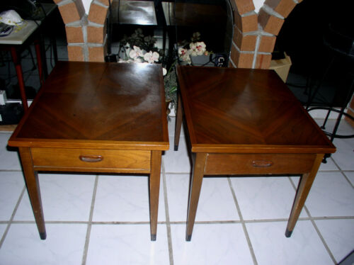 American of Martinsville Beautiful 2 End Tables Used Nice Design Ex PICK-UP ONLY
