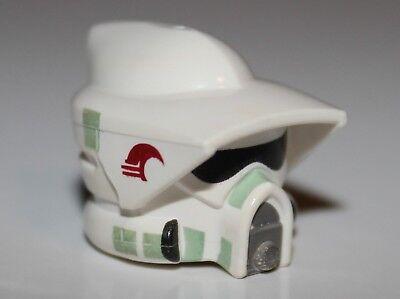 Lego Star Wars White Minifig Headgear Helmet SW ARF Trooper Pattern NEW