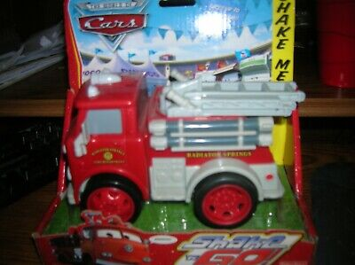 Disney Pixar Cars   Shake N Go Fire Truck 'Red' Fisher Price NEW