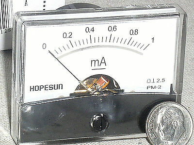 Brand New 1 Ma 1ma Dc Milliamp Current Milli Amp A Ammeter Analog Panel Meter