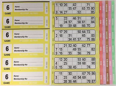 300 6 PAGE GAMES XL BINGO TICKETS SIMILAR TO JUMBO IN SIZE & QUALITY 50 STRIPS