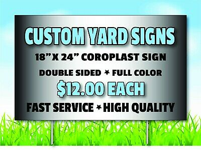 Custom Yard Sign