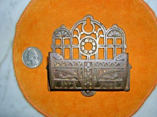 ANTIQUE CAST IRON WALL MATCH HOLDER 1880