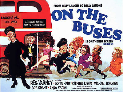 "On the Buses 1971 16"" x 12"" Reproduction Movie Poster Photograph"