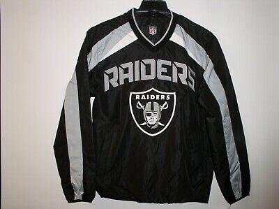- NFL Men's Oakland Raiders V-Neck Windbreaker Pullover SweatShirt Jacket
