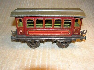 Bing 1 Gauge, 4 Wheel Passenger Car, 5 Windows, Red, 1st & 2nd Class