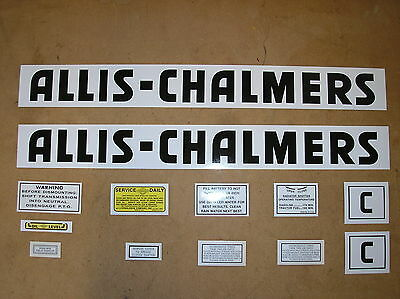 Allis Chalmers C New Decal Set For Tractors  19-28-7