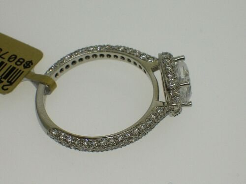 MARTIN FLYER PLATINUM 5211SCUE SEMI-MOUNT 0.75 CTW DIAMONDS SIZE 6.25US RET$8075