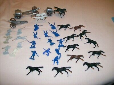 1960`S ? GIANT PLASTIC CORP HONG KONG CIVIL WAR CANNON AND HORSES PLAYSET 1/72H