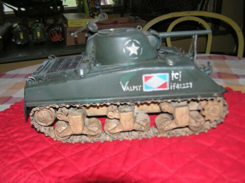 """Military World War II French Tank Model All Metal Lettered """"Valmy"""""""