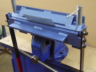 "Bending metal sheet folder, bender - 300mm (11.8"") / 2mm Steel - Clip inside"